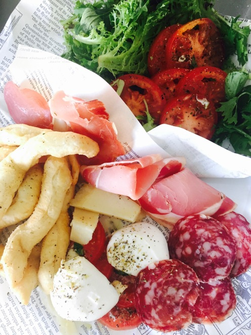 Antipasto Italiano with fried bread