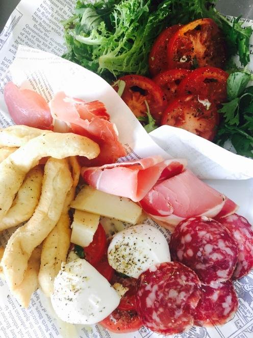 Antipasto Italiano with fried bread