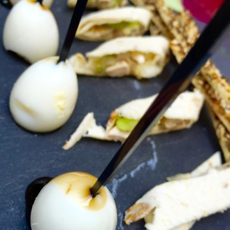 Quail eggs infused with Balsamic