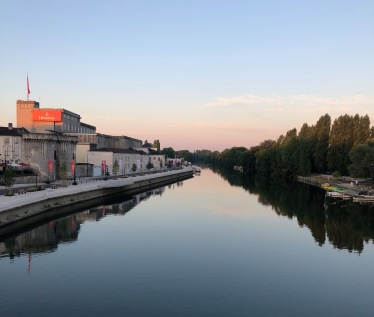 The Charente River winding through Cognac